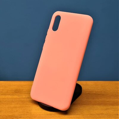 Накладка для Redmi 9A Silicone Case Light Pink