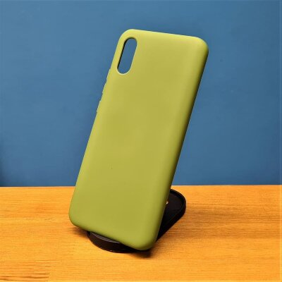 Накладка для Redmi 9A Silicone Case Green